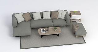 北欧沙发3d模型