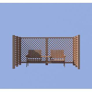 凉椅秋千3d模型