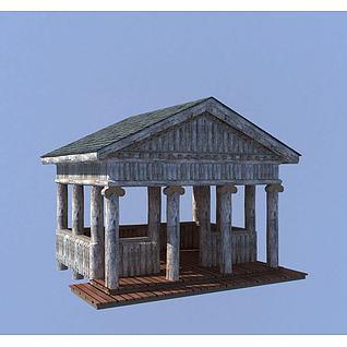 园林小屋3d模型