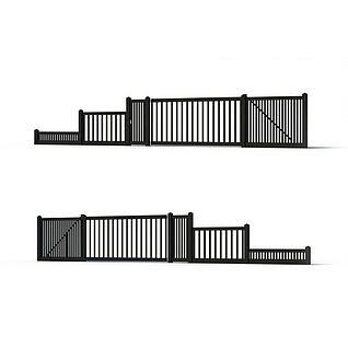 围栏3d模型