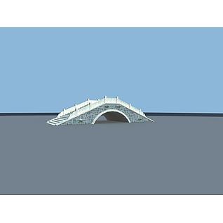 小桥3d模型