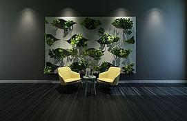 植物墙模型
