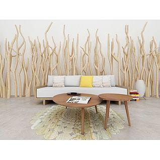 沙发3d模型