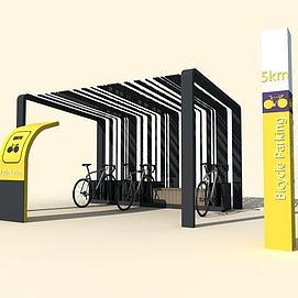 自行车棚模型
