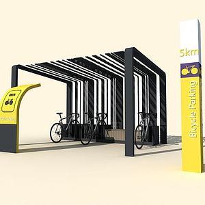 自行車棚3d模型