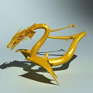 中国龙3D模型