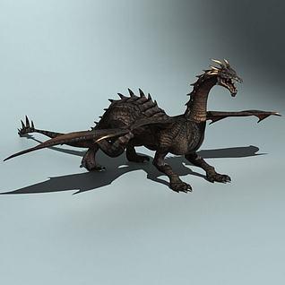 西方黑龙模型3d模型