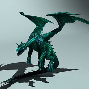 西方翼龙火龙怪物龙模型3d模型