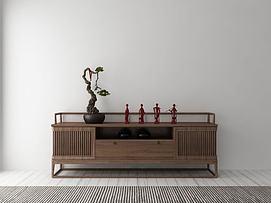 中式风格装饰架模型