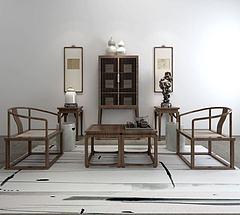 双椅边柜陈设组合模型3d模型