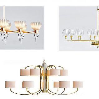 现代风格的吊灯3d模型
