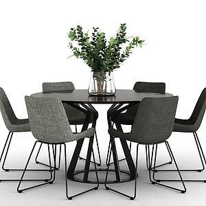3d北欧风格的餐桌模型