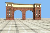 欧式大门3d模型