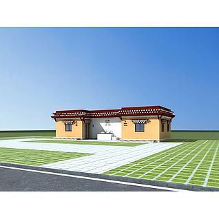 藏式厕所3d模型