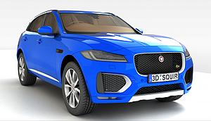 3d捷豹SUV汽車模型