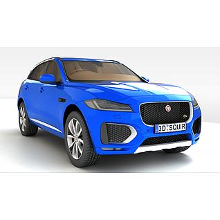 捷豹SUV汽车3d模型