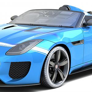 捷豹超跑汽车模型