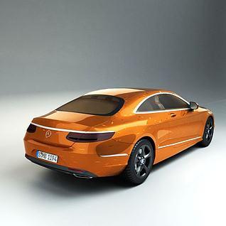 奔驰Coupe跑车3d模型
