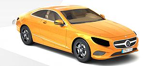 奔驰Coupe跑车3d模型3d模型