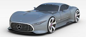 3d奔馳超跑汽車模型