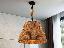 工业麻绳吊灯3D模型