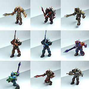 梦幻暗黑骑士团模型3d模型