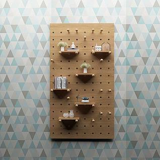 百搭洞洞板装饰3d模型