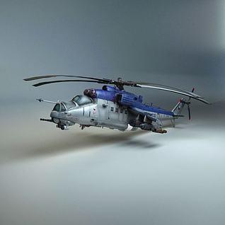 直升机模型3d模型