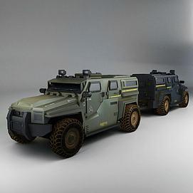 游戏道具战车模型