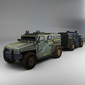 游戏道具战车模型3d模型