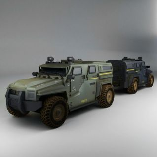 游戏道具战车3d模型