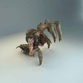 游戏怪物蜘蛛3d模型