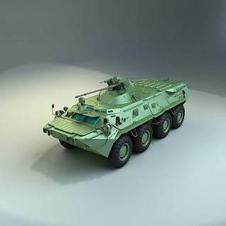 陆战装甲车3d模型3d模型
