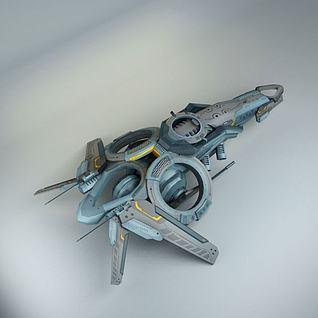 科幻3D飞船3d模型