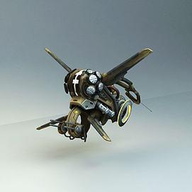 科幻<font class='myIsRed'>飞机</font>飞船3d模型