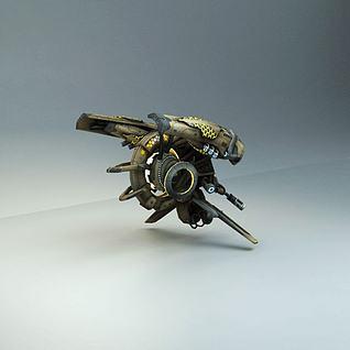 科幻飞船飞行器3d模型