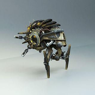 科幻飞行器飞机3d模型