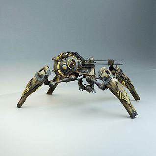 科幻飞机飞船3d模型