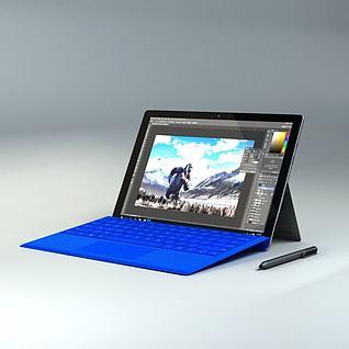 微软平板电脑3d模型