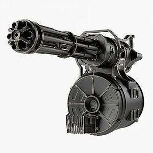 加特林機槍模型3d模型