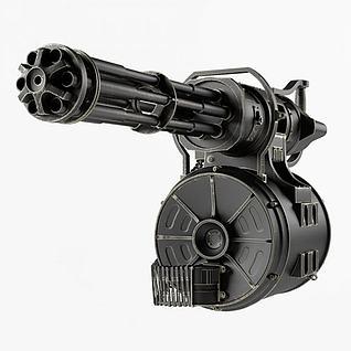 加特林机枪3d模型