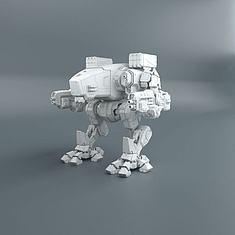 科幻机甲战车3D模型3d模型