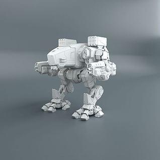 科幻机甲战车3d模型