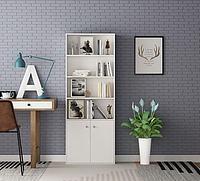 北欧风书柜座椅组合3d模型