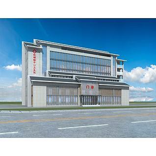 新中式卫生院3d模型