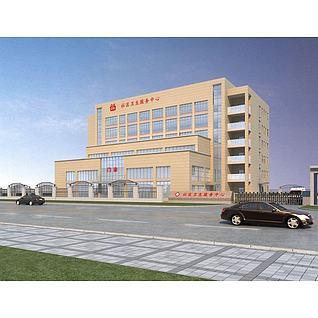 社区医院大楼3d模型3d模型