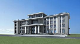 新中式办公楼3d模型