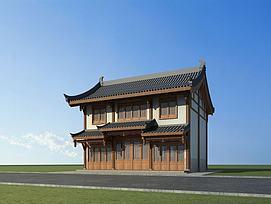 中式商铺3d模型
