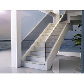 玻璃楼梯3d模型3d模型
