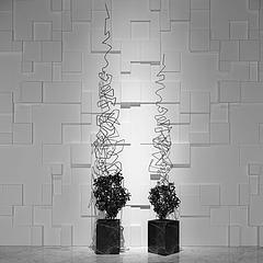 现代抽象铁艺雕塑模型3d模型